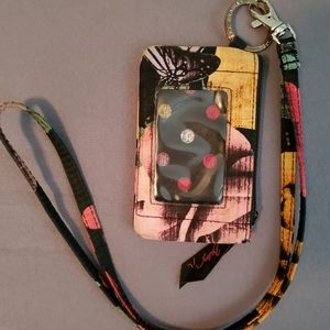 Vera Bradley badge holder and lanyard